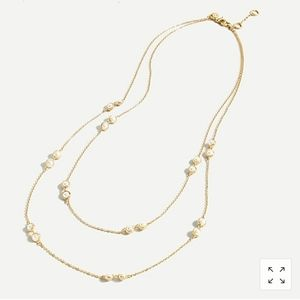 J Crew Layered Pearl Chain Necklace NWT